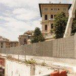 Barriera acustica in legno cemento per strade
