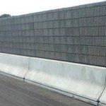 Barriera acustica in legno cemento per autostrade