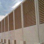 Barriera acustica legno cemento