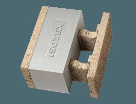 Mattoni da architettura sostenibile in legno e grafite