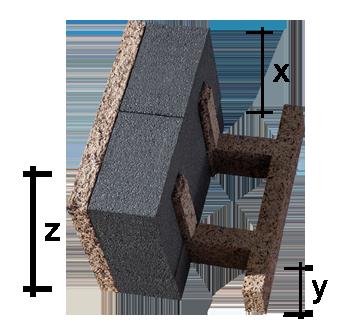 Mattone per solaio in legno cemento