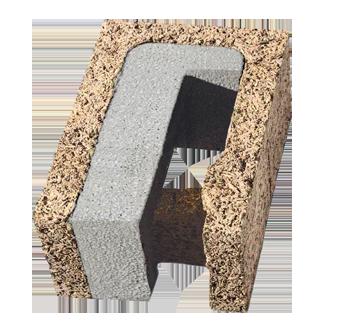 Blocco spalla in legno cemento