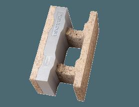 Blocchi cassero in legno cemento con grafite