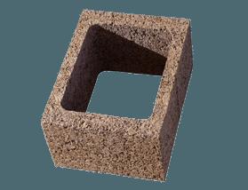 Blocco pilastro parete in legno cemento