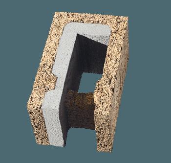 Blocco a cassero universale in legno cemento
