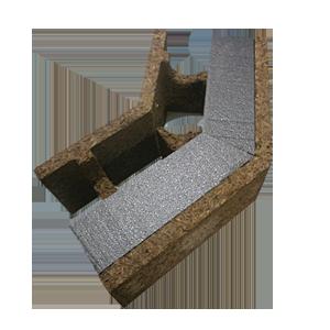 Mattoni su misura in legno cemento