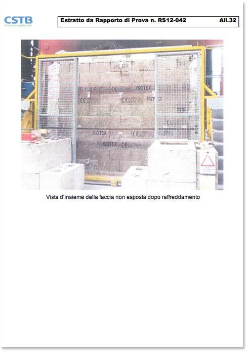 Certificazione CSTB resistenza al fuoco blocchi REI 120