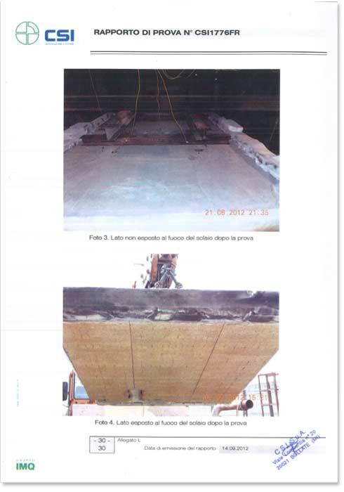 Certificazione CSI resistenza al fuoco solari REI 240