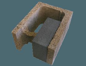 Mattone per angoli interni in legno cemento