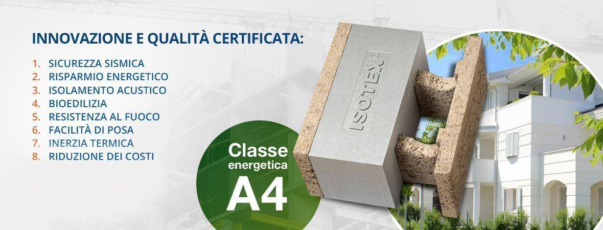 Costruzione certificata, classe A4