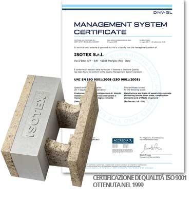 Materiali certificati per bioedilizia di alta qualità, ISO 9001