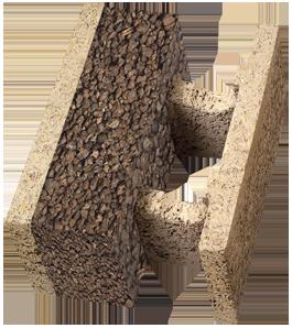 Blocchi Cemento Legno.Blocco Cassero Hdiii 38 14 Sughero Isotex Blocchi Cassero